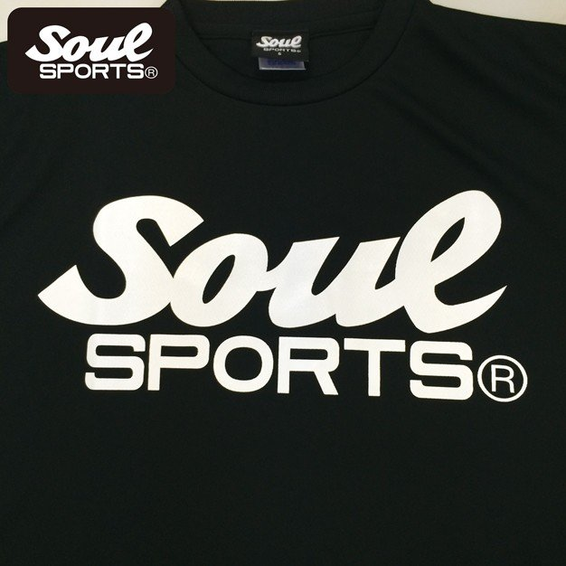 SOUL SPORTSオリジナル SOULロゴ ドライ半袖Tシャツ ブラック soul-sports 04