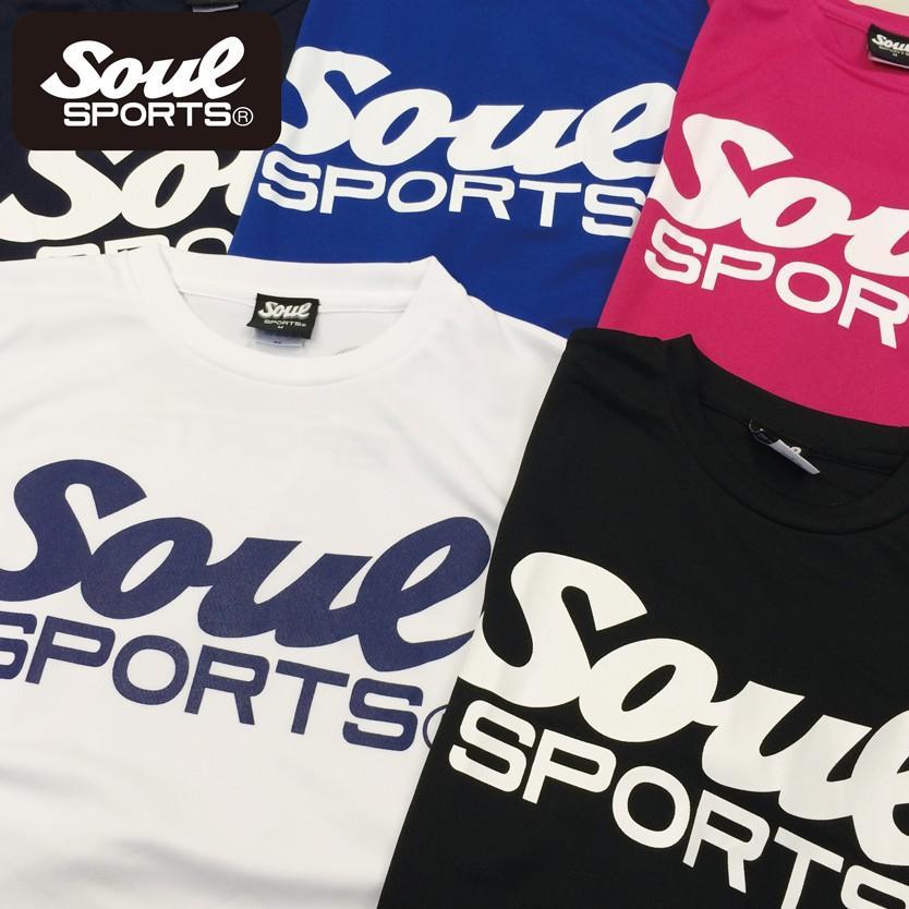 SOUL SPORTSオリジナル SOULロゴ ドライ半袖Tシャツ ブラック soul-sports 05