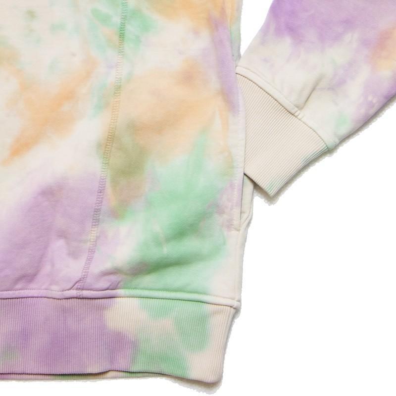 Top With Hoodie Multi Purple Tie Dye ML