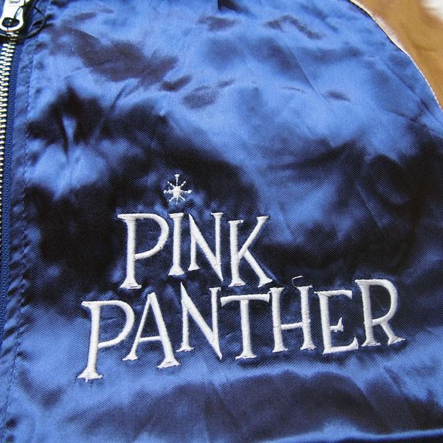 ピンクパンサー 刺繍スカジャン PINK PANTHER × FRAGSTAFF フラッグスタッフ リバーシブル ネイビー メンズ レディース 493025 sousakuzakka-koto 11