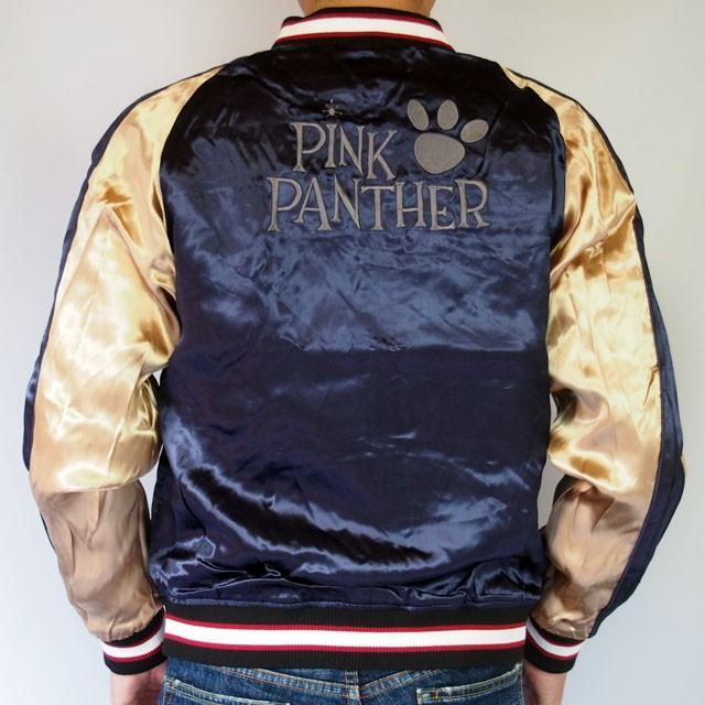ピンクパンサー 刺繍スカジャン PINK PANTHER × FRAGSTAFF フラッグスタッフ リバーシブル ネイビー メンズ レディース 493025 sousakuzakka-koto 15