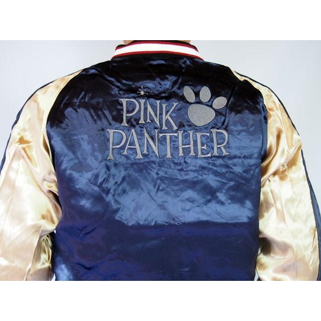 ピンクパンサー 刺繍スカジャン PINK PANTHER × FRAGSTAFF フラッグスタッフ リバーシブル ネイビー メンズ レディース 493025 sousakuzakka-koto 16