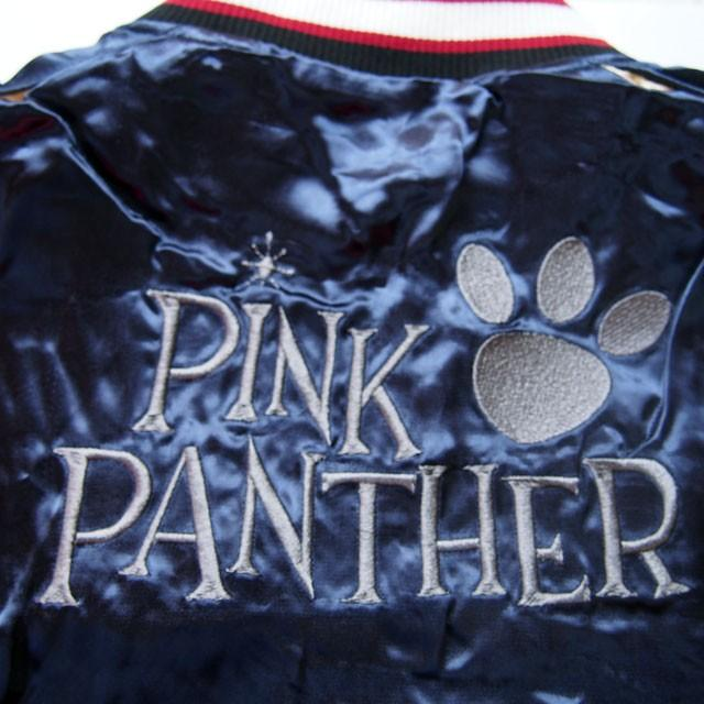ピンクパンサー 刺繍スカジャン PINK PANTHER × FRAGSTAFF フラッグスタッフ リバーシブル ネイビー メンズ レディース 493025 sousakuzakka-koto 18