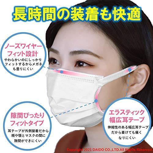 COLORFUL GUARD(カラフルガード) ダブルメタルイオンマスク エラスティック ワイド耳テープ 個包装 50枚入り 日本製 高機能 抗菌 防 south-wave-japan 04