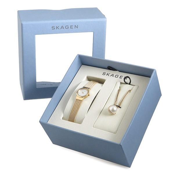 クラシック スカーゲン SKAGEN クオーツ レディース 腕時計 ネックレス ギフトセット SKW1067 ホワイト, COCOMART fb0f0783