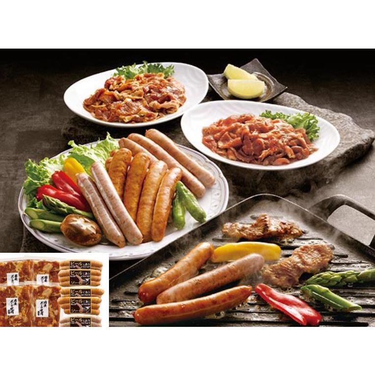 国産ポーク焼肉(味付)とソーセージセット(MT21-004)|sp-gifts