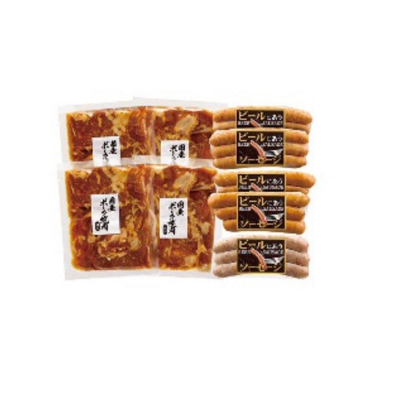 国産ポーク焼肉(味付)とソーセージセット(MT21-004)|sp-gifts|02