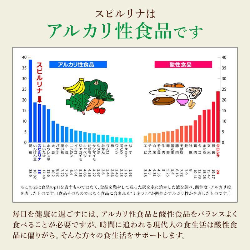スピルリナ100% 2400粒 約2ヶ月分 野菜不足 偏食 スーパーフード アルカリ性食品 タンパク質の多い食品 sp100 17