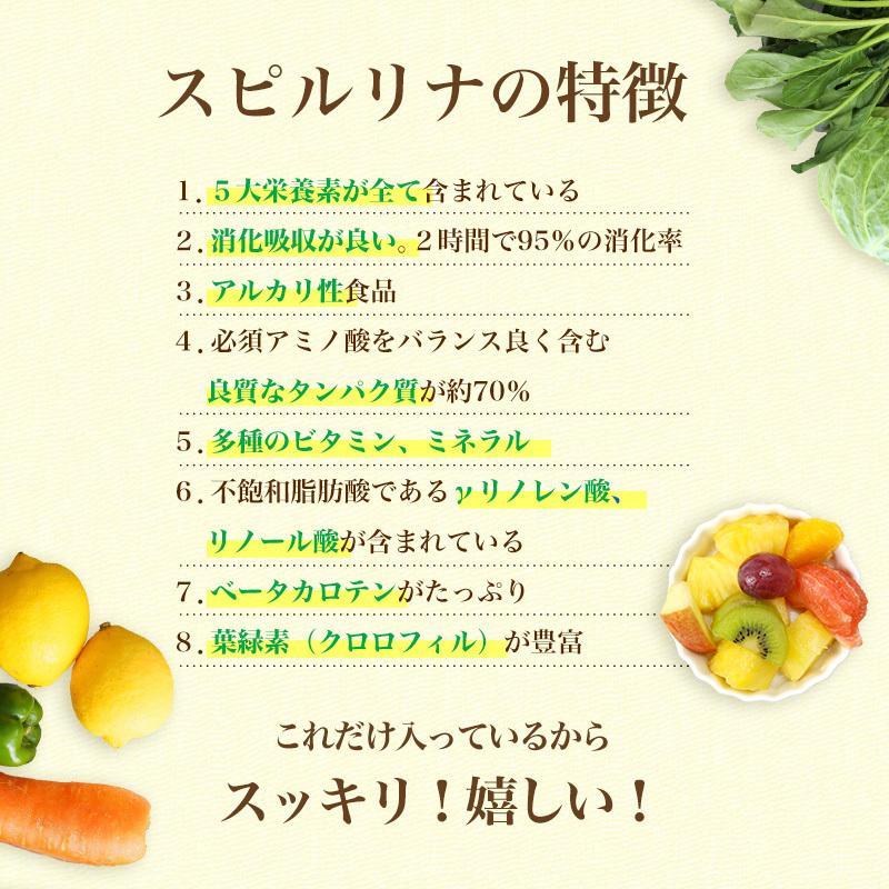 スピルリナ・α(アルファ)リポ酸 1200粒 ダイエットサプリ ポイント消化 健康食品 Spirulina sp100 09