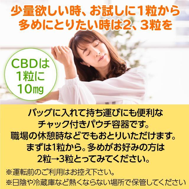 CBD かんで食べるCBD お試し用 6粒入 タブレット リラックス成分配合 オレンジ味 持ち運び便利 カンナビジオール CBDオイル CBDグミより食べやすいと人気|spacea|10