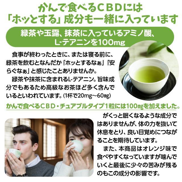 CBD かんで食べるCBD 30粒入 タブレット リラックス成分配合 オレンジ味 持ち運び便利 カンナビジオール CBDオイル CBDグミより食べやすいと人気 spacea 04