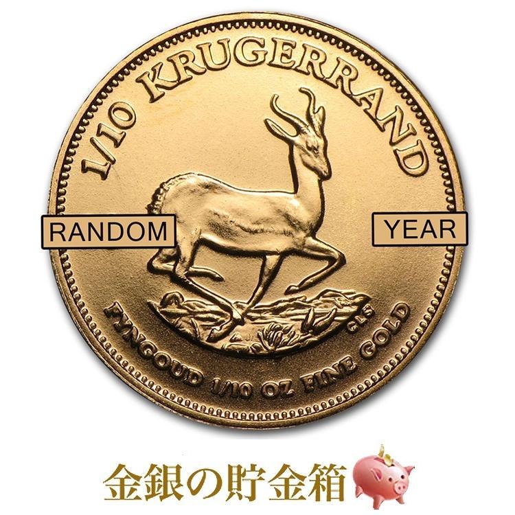 クルーガーランド金貨 1/10オンス クリアケース入り ランダム·イヤー「金銀の貯金箱」