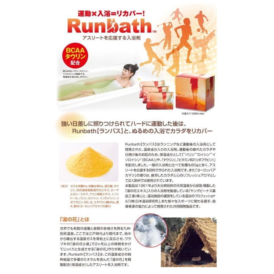 Runbath ランバス 5個セット アスリート 入浴剤 運動後 入浴法 マラソン ジョギング 送料無料 spalabo 03
