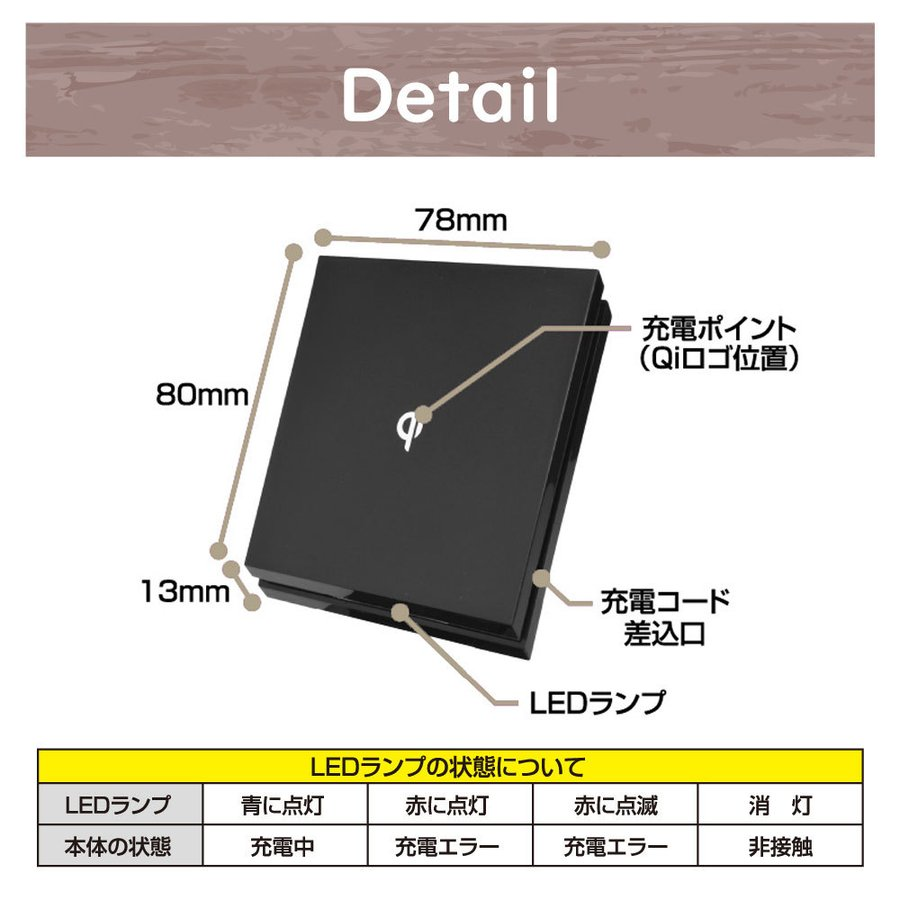 ワケあり値下げセール スマホ ワイヤレス 充電器 充電ボード パッド Qi認定 1年保証 iPhone12 / 11 / XR / X / 送料無料* specdirect 06