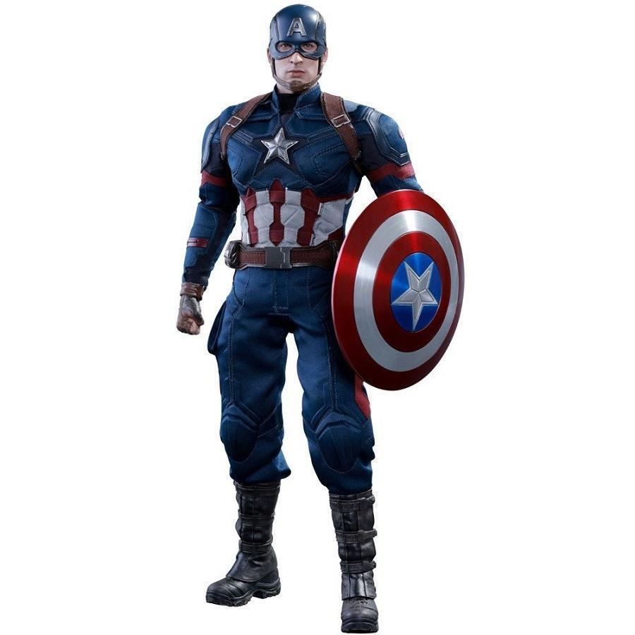 ムービー・マスターピース シビル・ウォー/キャプテン・アメリカ キャプテン・アメリカ 1/6スケール プラスチック製 塗装済み可動フィギュア ホットトイズ