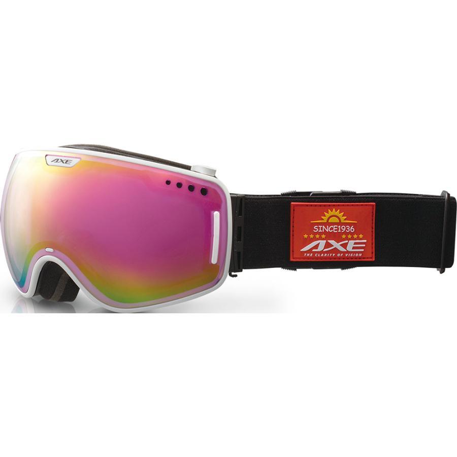 AXE(アックス) メンズ スノーゴーグル UVカット AX960ECM ホワイト