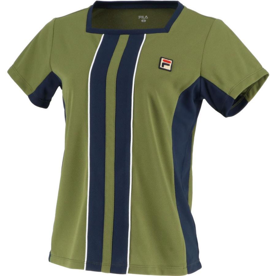 FILA(フィラ) ゲームシャツ レディース VL1994 カーキ