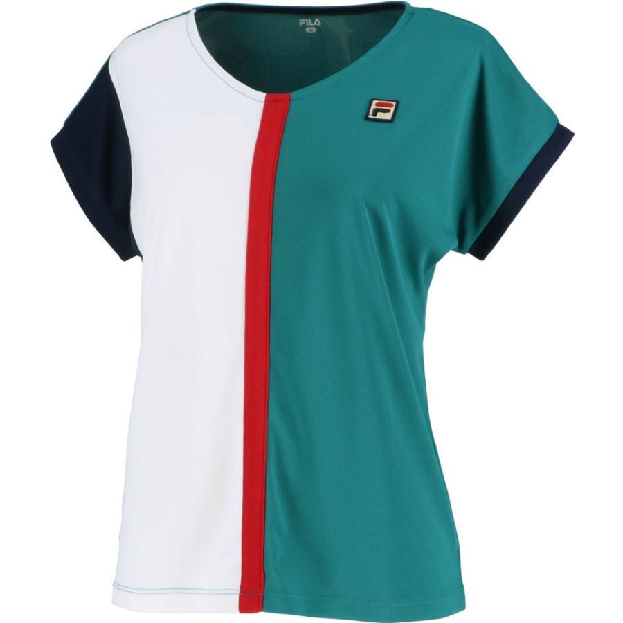 FILA(フィラ) ゲームシャツ レディース VL2041 ダークグリーン