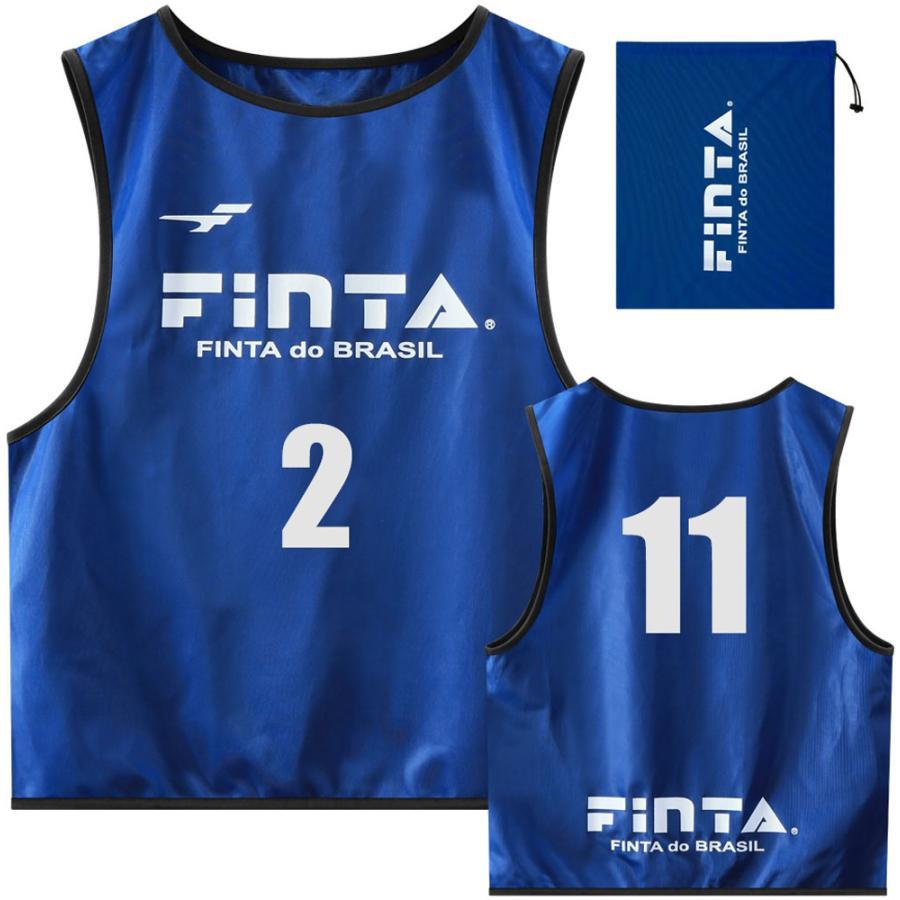 FINTA(フィンタ) ジュニアビブス(10枚) FT6555 ブルー