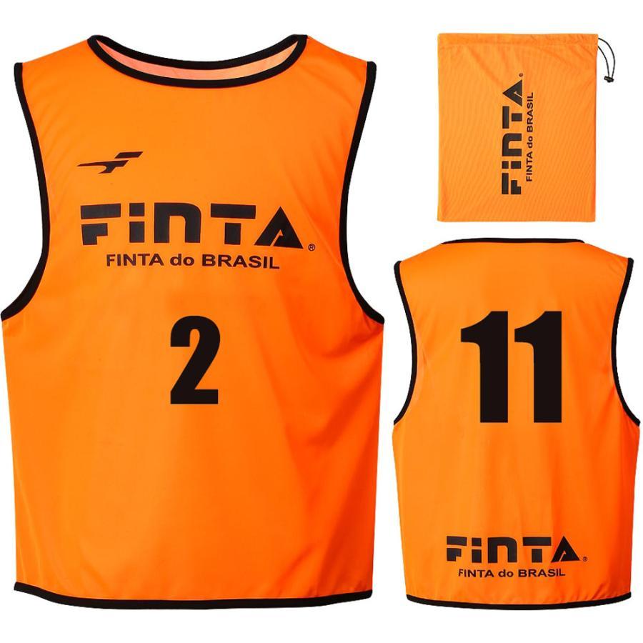 FINTA(フィンタ) ジュニアビブス(10枚) FT6555 オレンジ
