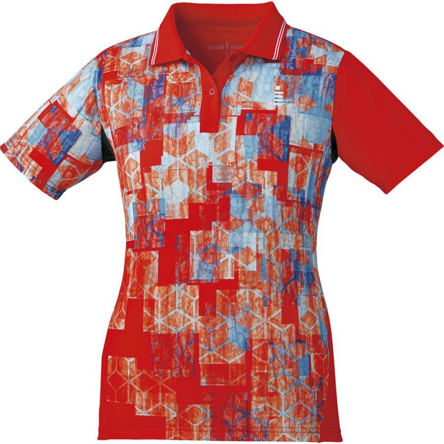 GOSEN(ゴーセン) レディース テニス・バドミントンウェア ゲームシャツ T1801 レッド