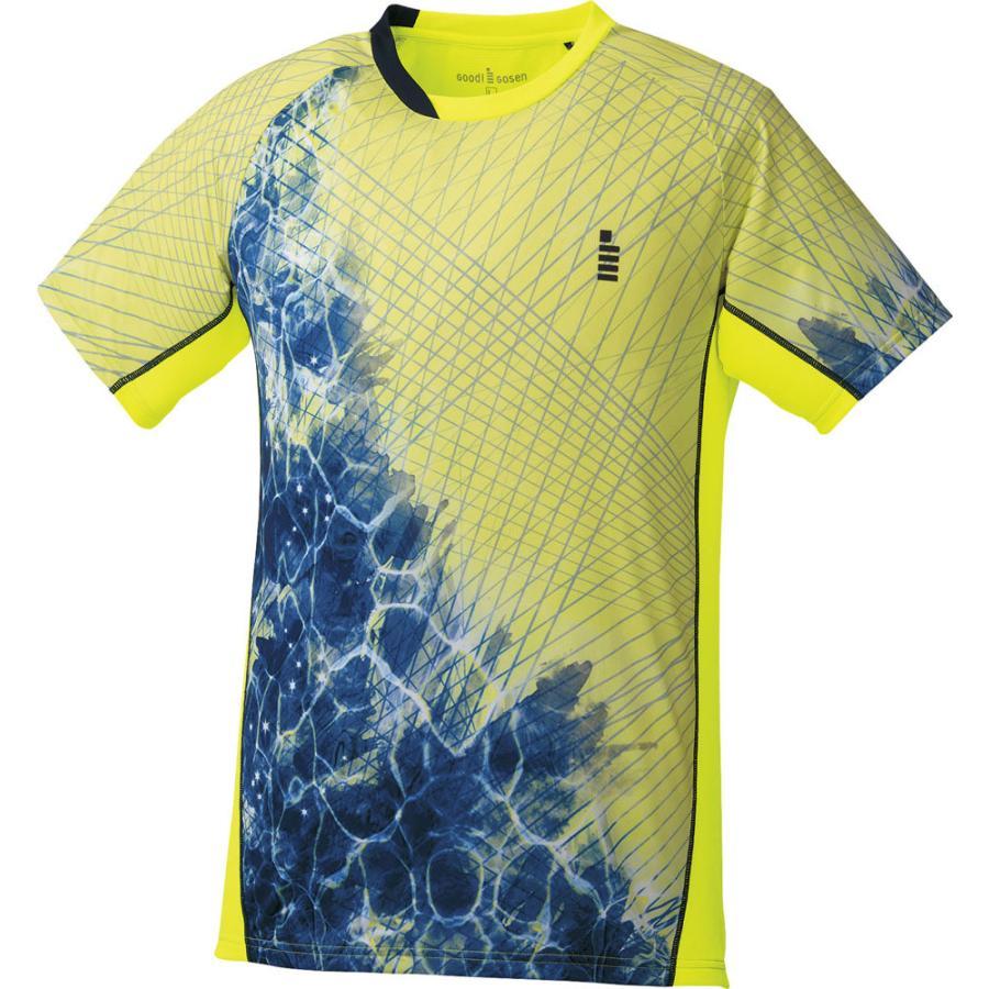 GOSEN(ゴーセン) 男女兼用 テニス・バドミントンウェア ゲームシャツ ユニセックス T1806 ネオンイエロ