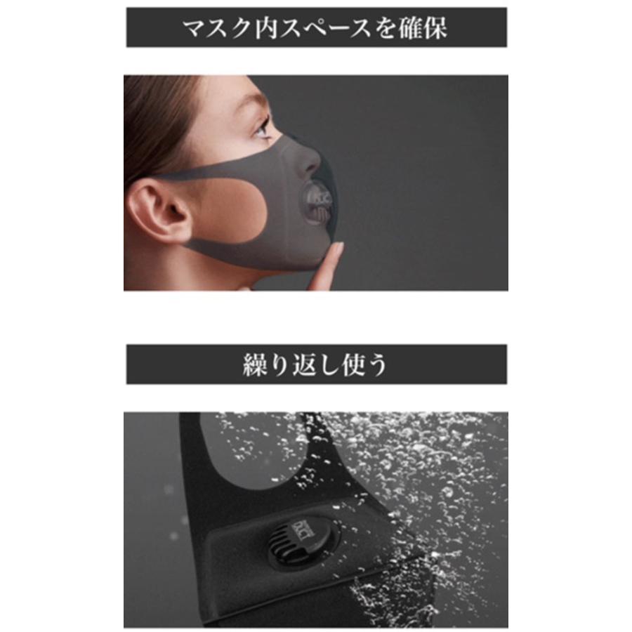 アクティバイタル 排気ダクト付き ウレタンマスク ダクトマスク ブラック 感染予防 飛沫防止 風邪 spg-sports 05