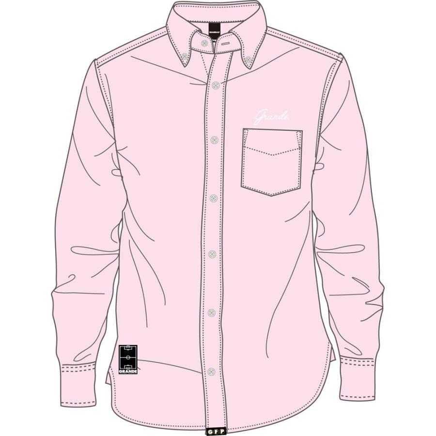 GRANDE(グランデ) OX ボタンダウン L/S シャツ GFP1021604 LT.ピンク