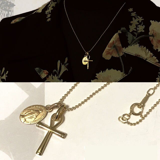 18金コーティング アンククロス エジプト十字架  パリ マドレーヌ寺院 フランス教会正規品  18k k18 ペンダント トップ チャーム ゴールド ネックレス spica-france 09