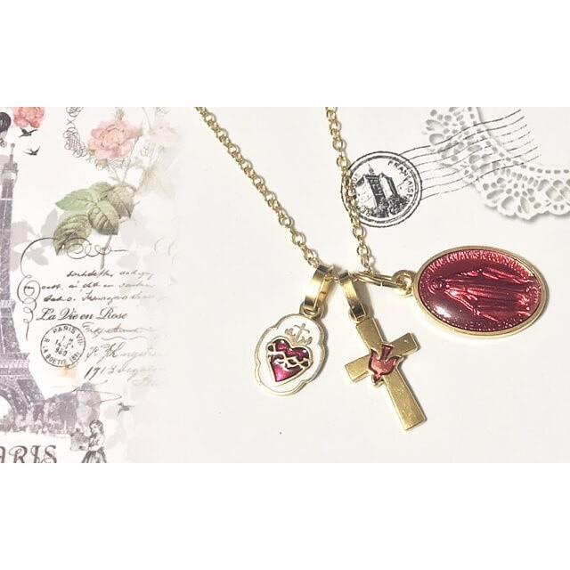 平和の鳩ミニクロス 十字架 パリ サクレクール寺院正規品 フランス教会 ゴールド シルバー ペンダント トップ ヘッド ネックレス 鳥 バード spica-france 05