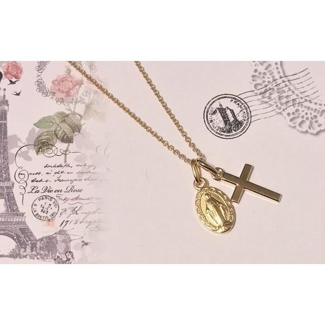 Sサイズ 真鍮金色スカラップ 不思議のメダイ パリ奇跡のメダイユ教会正規品 フランス製 本物 聖母 マリア ペンダント トップ メダル ゴールド ネックレス spica-france 11