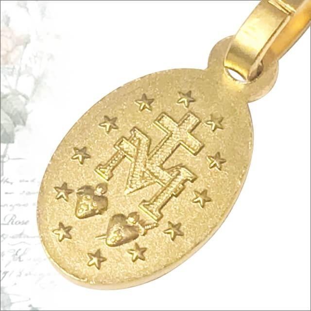 Sサイズ 真鍮金色スカラップ 不思議のメダイ パリ奇跡のメダイユ教会正規品 フランス製 本物 聖母 マリア ペンダント トップ メダル ゴールド ネックレス spica-france 04