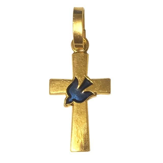 平和の鳩ミニクロス 十字架 パリ サクレクール寺院正規品 フランス教会 ゴールド シルバー ペンダント トップ ヘッド ネックレス 鳥 バード spica-france 12