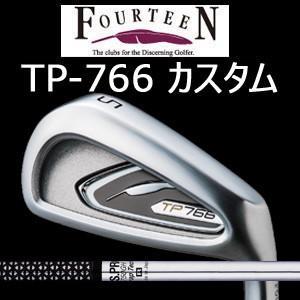 (カスタム特注仕様品)FOURTEEN フォーティーン TP766 ニッケルクロムメッキ・パールサテン仕上げ #5〜PW 6本組 N.S.PRO 750GH(日本シャフト社製)