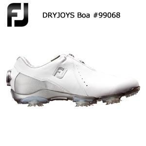 ウィメンズ FOOTJOY フットジョイ DRYJOYS Boa #99068 ホワイト+シルバー (2018年4月発売)