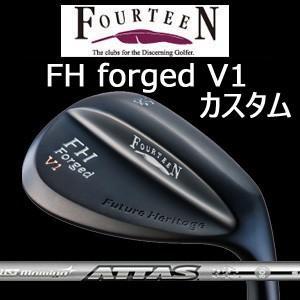 (特注カスタム) フォーティーン FH forged V1 マットブラック仕上げ ATTAS IRON 40,50,60,80(アッタスアイアン40,50,60,80)(UST Mamiya社製)