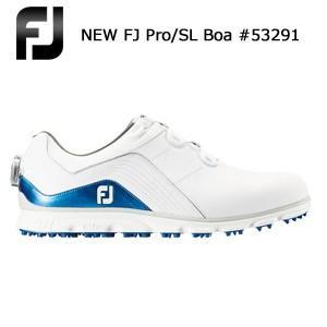FOOTJOY フットジョイ NEW FJ Pro/SL Boa #53291 ホワイト+ブルー NEWプロ/エス・エル ボア (2018年10月発売)