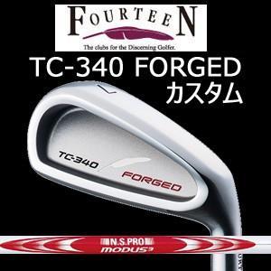 (カスタム特注仕様品) FOURTEEN フォーティーン TC-340 FORGED ニッケルクロムメッキ・サテン仕上げ #6〜PW 5本組 N.S.PRO MODUS3 SYSTEM3 TOUR125