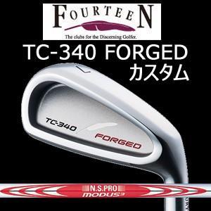 (カスタム特注仕様品) FOURTEEN フォーティーン TC-340 FORGED ニッケルクロムメッキ・サテン仕上げ 単品アイアン(#5,P/A) N.S.PRO MODUS3 TOUR120