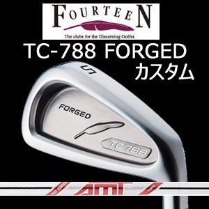 (カスタム特注仕様品) FOURTEEN フォーティーン TC-788 FORGED ニッケルクロムメッキ・サテン仕上げ #5〜PW 6本組 AMT レッド(AMT 赤)