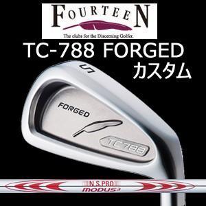 (カスタム特注仕様品) FOURTEEN フォーティーン TC-788 FORGED ニッケルクロムメッキ・サテン仕上げ 単品アイアン(#4)N.S.PRO MODUS3 TOUR130(日本シャフト社製)
