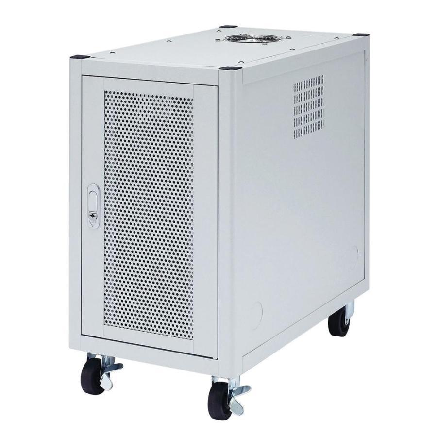 サンワサプライ 縦収納19インチマウントハブボックス(4U) CP-TH4UN送料無料 キャスター ルーター 放熱 放熱