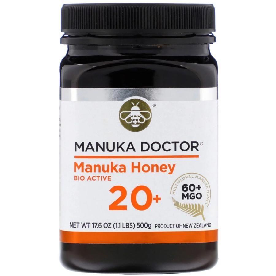 マヌカハニー 20+ 500g マヌカドクター バイオアクティブ20+ MGO60+ ニュージーランド産 蜂蜜 ハチミツ はちみつ 高品質 [消費期限2021年10月以降]|spl|02