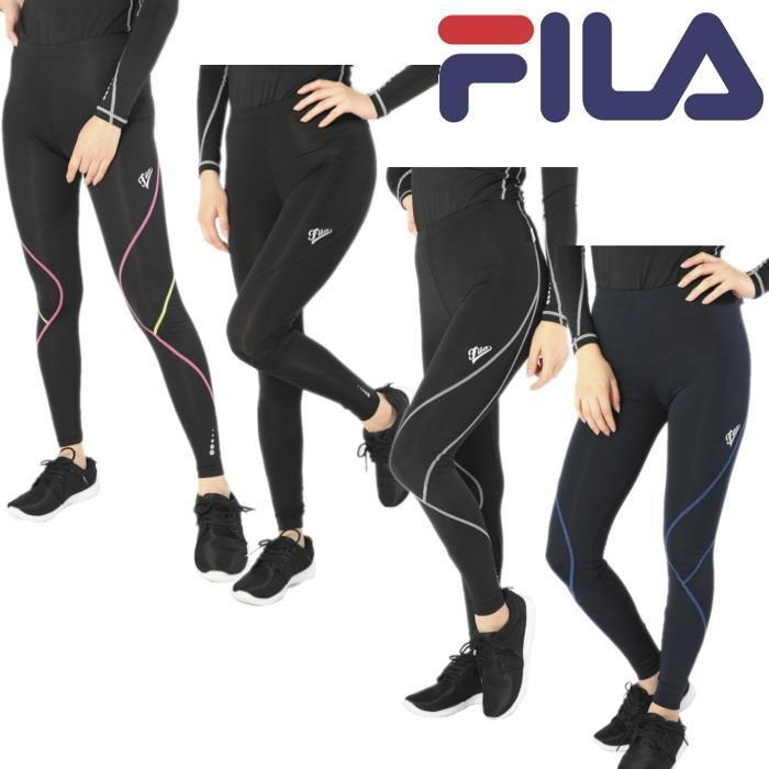 FILA フィラ マルチコンプレッション ロングタイツ 445-407 レディース RUNNING FITNESS 送料無料|spocon-store