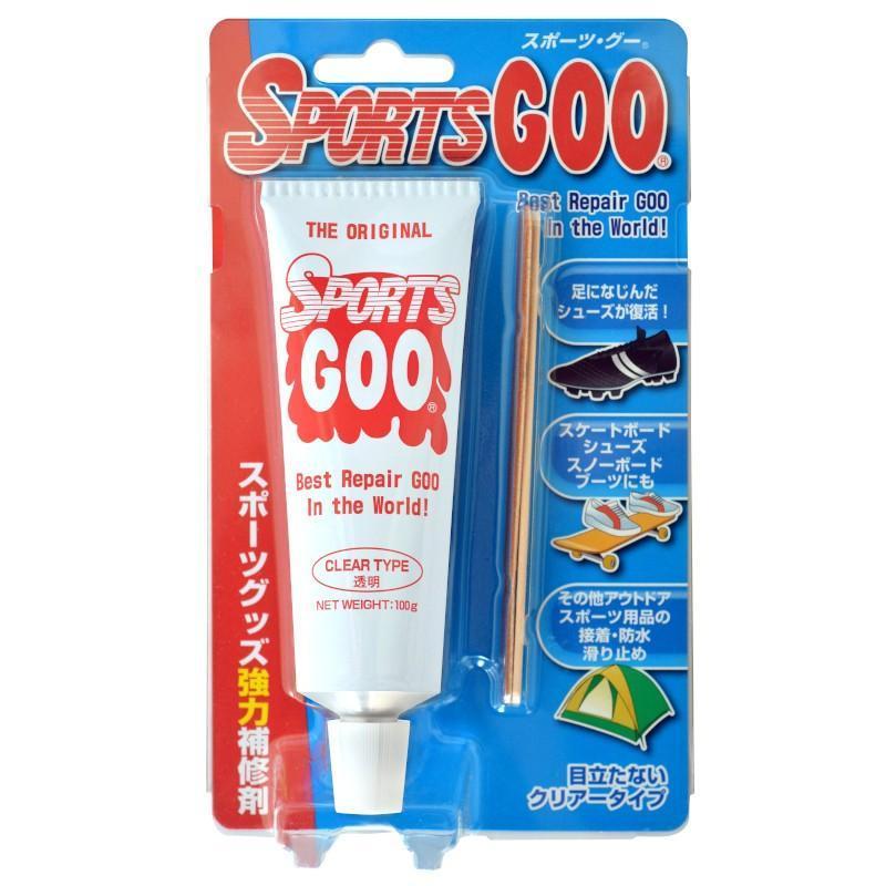 SHOEGOO シューグー スポーツグー 透明 アウトドア スポーツ用 靴 修理 ソール 接着 補修 手入れ ゴム製品 100g  送料無料|spocon-store