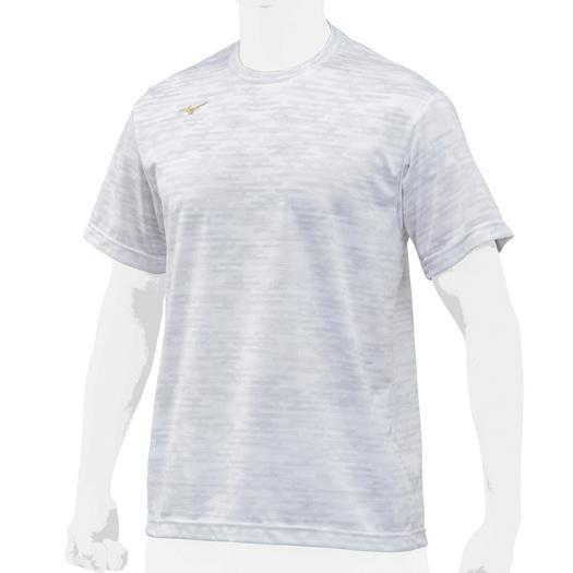 ミズノ MIZUNO ミズノプロ ベースボールシャツ 丸首 半袖 12JC8L80-01