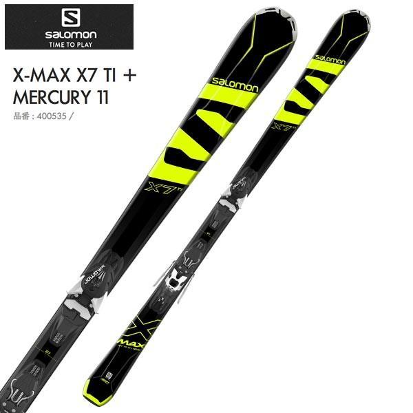 サロモン スキー板 【17-18 モデル】 X-MAX X7TI + MERCURY11 【金具付き スキーセット】
