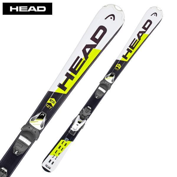 HEAD ( ヘッド ジュニア スキー板 ) ジュニア キッズ 【18-19 モデル】 SUPERSHAPE TEAM SLR2 YEL + SLR 4.5 AC 【金具付き スキーセット】