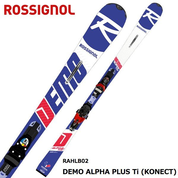 ROSSIGNOL ( ロシニョール スキー板 ) 【18-19 モデル】 DEMO ALPHA PLUS Ti KONECT + SPX 12 KONECT DUAL B80 【金具付き スキーセット】