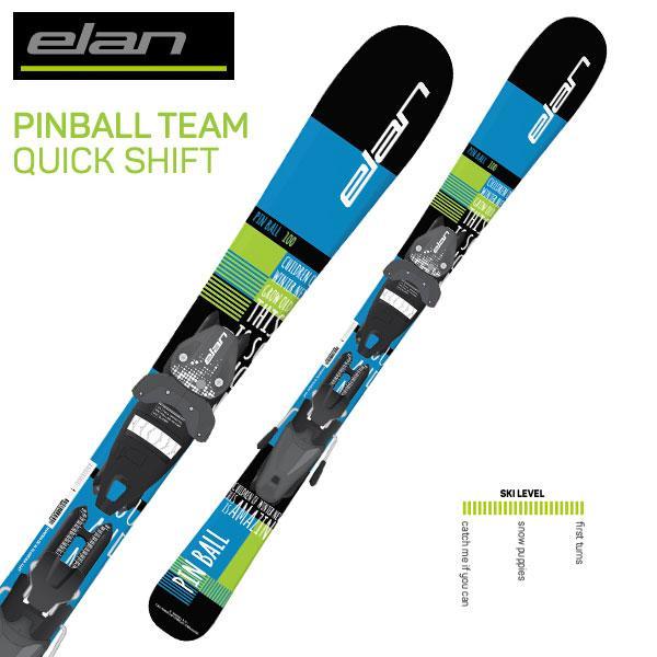 ELAN ( エランジュニアスキー板 ) ジュニア キッズ 【18-19 モデル】 PINBALL TEAM QUICKSHIFT + EL4.5AC SHIFT BLK 【金具付き スキーセット】